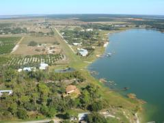 View Of Lake Clinch Airpark From The South
